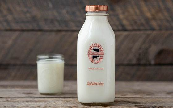 Ronnybrook milk in bottle